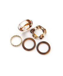 marjour/MARBLE CHAIN 5SET RING/503324193
