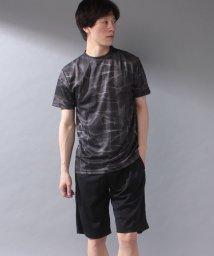 STYLEBLOCK/吸汗速乾ドライ総柄半袖Tシャツカットソーショーツショートパンツ上下セットアップ/503284433
