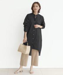 LASUD/[MIREPOIX] 麻混 チュニックシャツ/503322328