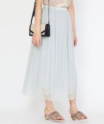 SCOTCLUB/Bouchon(ブション) 【手洗い可】ライトチュールミディスカート/503322355