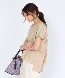 SCOTCLUB/TORRAZZO DONNA(トラッゾドンナ) 【手洗い可】バックオープンギャザーTシャツ/503322362