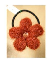 CAYHANE/【チャイハネ】毛糸のお花ヘアゴム オレンジ/503323859