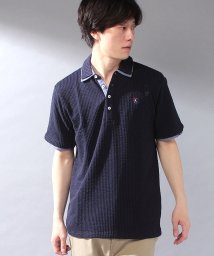STYLEBLOCK/カットサッカーワンポイント刺繍2枚襟半袖ポロシャツ/503303921