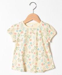 LAGOM/【lagom】花柄パフスリーブTシャツ/503317663