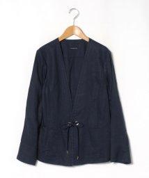 LAPINE BLEUE/【大きいサイズ】【洗える】フレンチリネン ライトジャケット/503322589