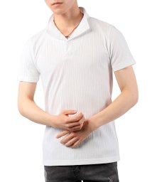 TopIsm/襟ワイヤー入り半袖スキッパーポロシャツ/503326691