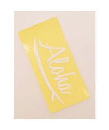 KAHIKO/【kahiko】Hawaiian Sticker サーフアロハ ホワイト/503327075