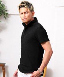 LUXSTYLE/リンクスジャガードイタリアンカラーポロシャツ/ポロシャツ メンズ 半袖 イタリアンカラー ジャガード/503327822