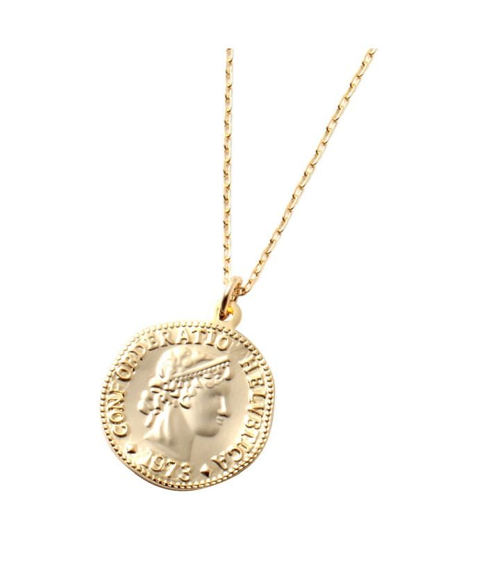 クリームドット 大人っぽさ惹き出す変形コインのロングネックレス レディース ゴールド ワンサイズ 【cream dot】