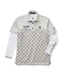le coq sportif GOLF/市松ジャガード切り替え半袖シャツ&インナーシャツ/503328590