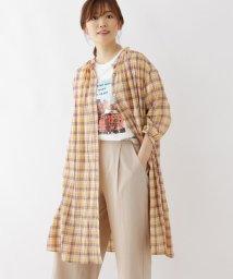 SHOO・LA・RUE Cutie Blonde/【M-L】コットンブレンドシャツチュニック/503330907