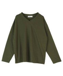 miette/オーバーサイズVネックロングTシャツ/502946731