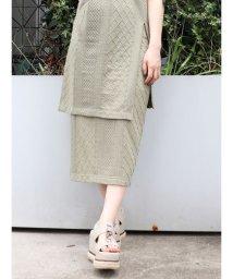 MURUA/ジャガードIラインスカート/503322054