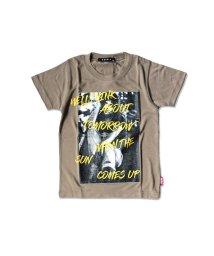 NEXT WALL/「130-00.01」キッズ Tシャツ 子供服 半袖 男の子 ボーイズ ティーシャツ プリント ロゴ 切替え/503328447