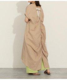 AULI/ストライプ織りワンピース/503331494