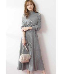 PROPORTION BODY DRESSING/V ネックカーデ×ノースリーブニット×プリーツスカートセット/503331569