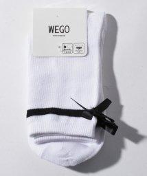 WEGO/WEGO/サテンリボン付きソックス/502811545