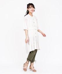 axes femme/ウエストレースプリーツシャツ/503320068