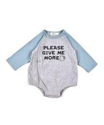e-baby/天竺 ロゴプリント ラグラン ロンパース/503327323