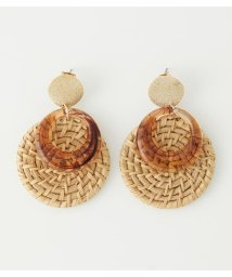 AZUL by moussy/CIRCLE RATTAN EARRINGS/503334223