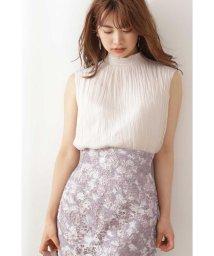PROPORTION BODY DRESSING/シャーリングノースリーブブラウス:モカピンクWEB限定カラー/503334319