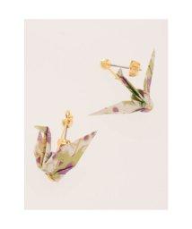 KAYA/【カヤ】- ORIGAMI - 折紙ピアス 折り鶴 桔梗 グリーン/503331247