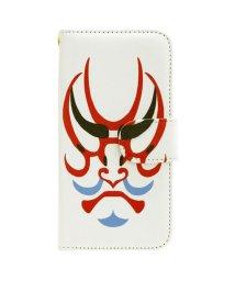 KAYA/【カヤ】iPhone8/7兼用 手帳型ケース 和モダンプリント ホワイト×レッド/503333084