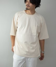 Nylaus/Nylaus ヘビーウェイト 無地 ポケット付き くすみカラー クルーネック 半袖 ビッグTシャツ/オーバーTシャツ/503334538