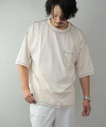 Nylaus/Nylaus ヘビーウェイト 無地 ポケット付き くすみカラー ステッチ配色 クルーネック 半袖 ビッグTシャツ/オーバーTシャツ/503334539