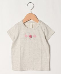 LAGOM/【lagom】ポンポン付フラミンゴTシャツ/503322599