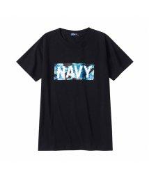 MAC HOUSE(kid's)/NAVY ネイビー ボーイズ スパンコールTシャツ EJ203-KB123/503335115