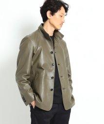 TAKEO KIKUCHI/ラムレザースタンドカラージャケット/503336107