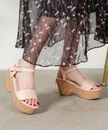 Shoes in Closet/フラワーカット  ヒールリボン  厚底ウェッジサンダル/503166672
