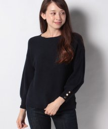 NICE CLAUP OUTLET/【natural couture】横リブボリューム袖金釦ニット/503278947