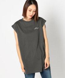 UNRELISH/レタリングプリントフレンチTシャツ/503281239