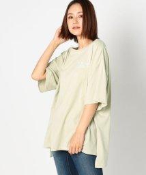 UNRELISH/レタリングプリント刺繍ビッグTシャツ/503281242