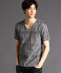 HIDEAWAYS NICOLE/リンクスボ-ダ-VネックTシャツ/503316456