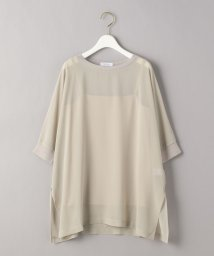 BEAUTY&YOUTH UNITED ARROWS/BY シフォンドルマンスリーブ6分袖カットソー/503320218