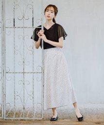 Rewde/ゼブラ柄フレアスカート(0R10-06163)/503323011