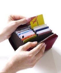 exrevo/カードケース 大容量 じゃばら 本革 スキミング防止 カード入れ レディース メンズ/503337544