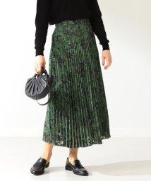 Demi-Luxe BEAMS/A PUPIL / ジャカードフラワー プリーツスカート/503337761