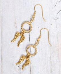 WYTHECHARM/S 天使の羽×装飾リングピアス/503337784