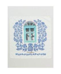 CAYHANE/【欧州航路】ザリピエフラワースカーフ ブルー/503338262