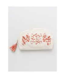 CAYHANE/【欧州航路】ハンガリー刺繍風ポーチ ベージュ/503338269