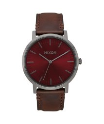 NIXON/ニクソン NIXON Porter Leather (Gunmetal / Burgundy / Brown)/503340647