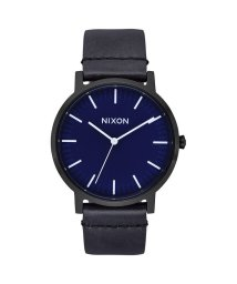 NIXON/ニクソン NIXON Porter Leather (All Black / Dark Blue)/503340654