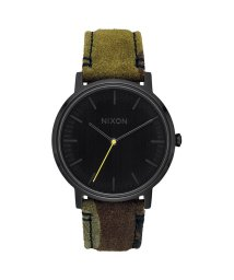 NIXON/ニクソン NIXON Porter Leather (Black / Camo / Volt)/503340661