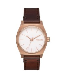 NIXON/ニクソン NIXON Medium Time Teller Leather (Rose Gold / White / Brown)/503340708