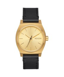NIXON/ニクソン NIXON Medium Time Teller Leather (Gold / Black)/503340716