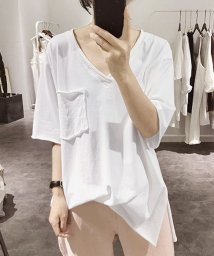 Grandeir/胸ポケット付き 半袖 カットソー/503342928